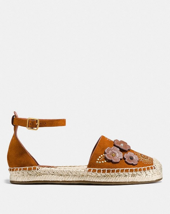 Coach Ankle Strap Astor Espadrille With Tea Rose Rivets Alternate View 1
