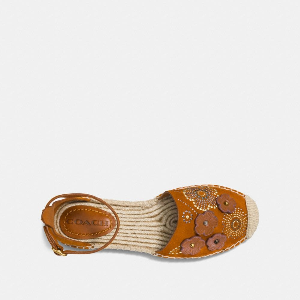 Coach Ankle Strap Astor Espadrille With Tea Rose Rivets Alternate View 2