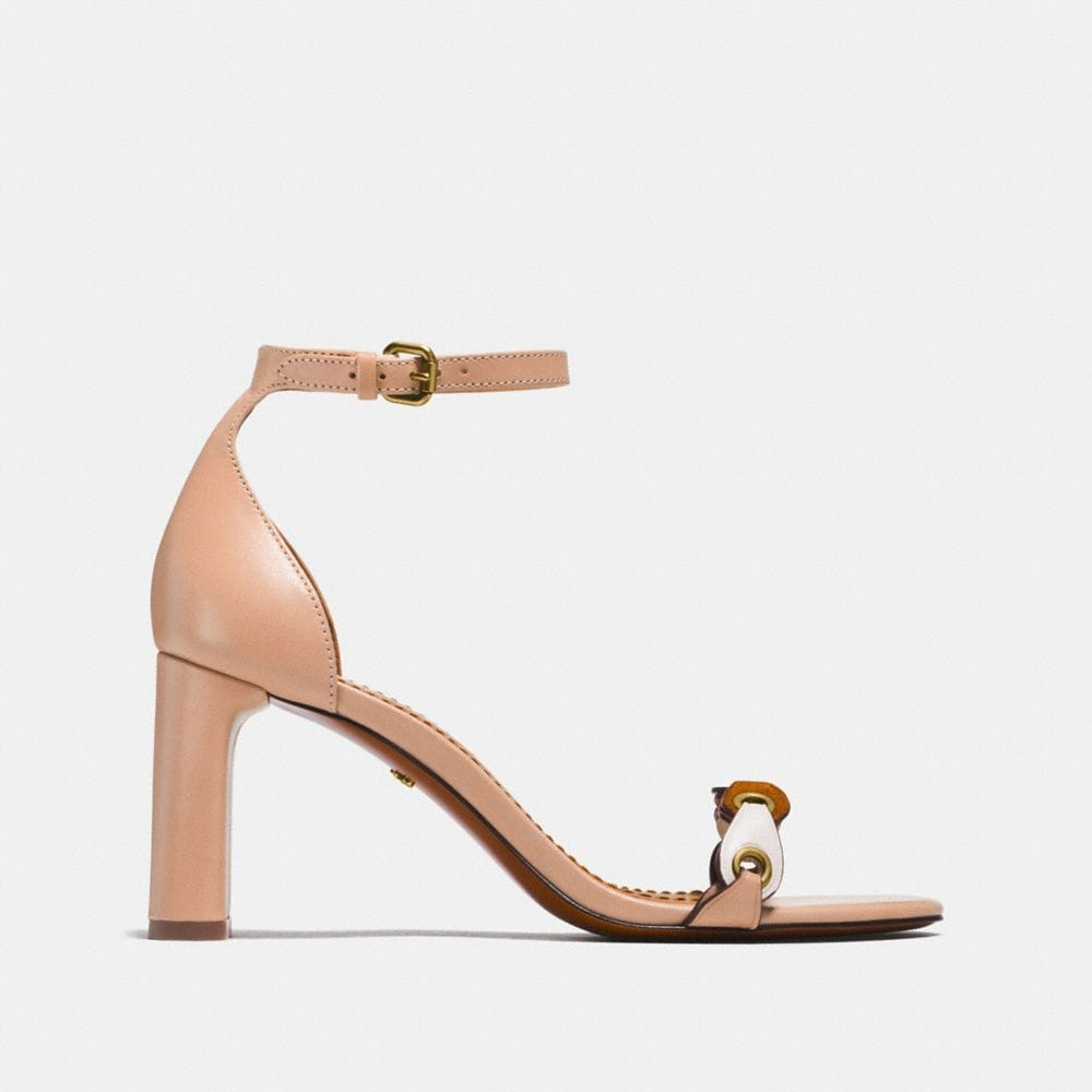 Coach Heel Sandal With Coach Link Alternate View 1