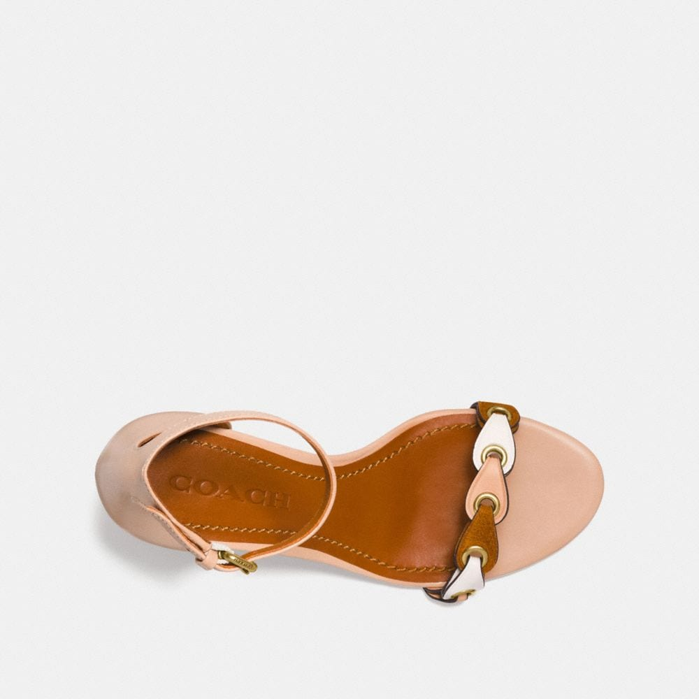 Coach Heel Sandal With Coach Link Alternate View 2