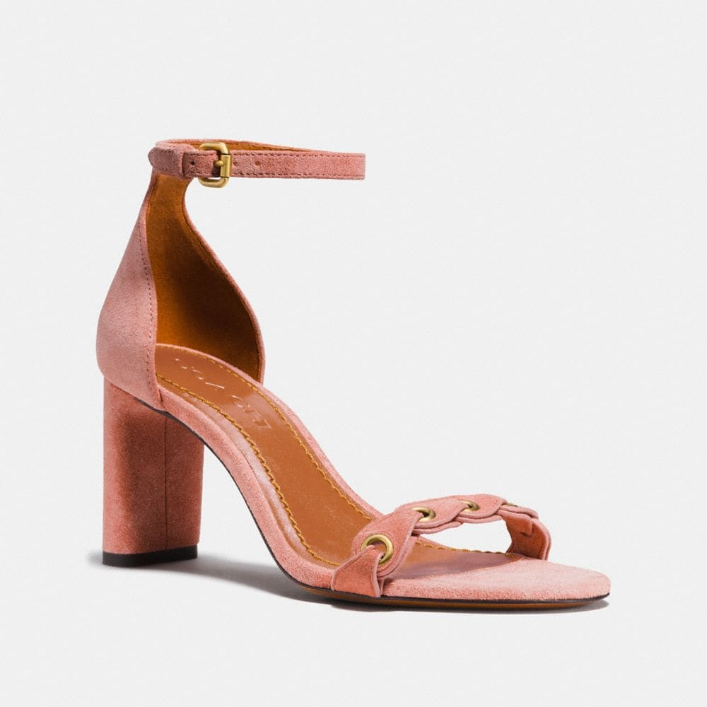 HEEL SANDAL WITH COACH LINK