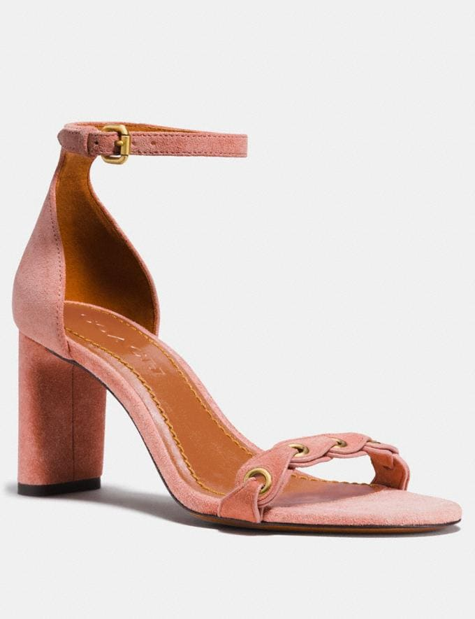 Coach Heel Sandal With Coach Link Peony Friends & Family Sale Women's Shoes
