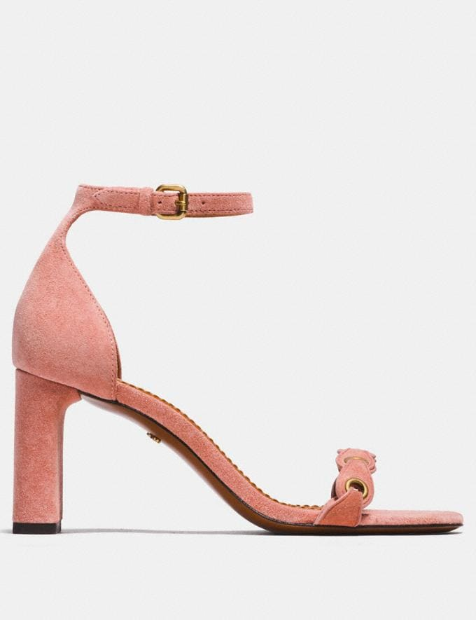 Coach Heel Sandal With Coach Link Peony  Alternate View 1