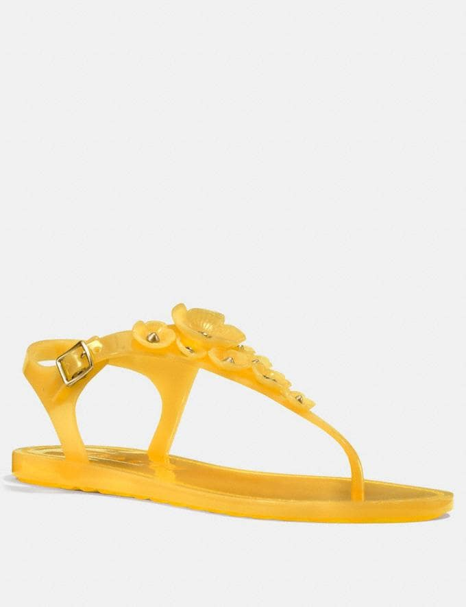 Coach Tea Rose Multi Jelly Sandal Canary