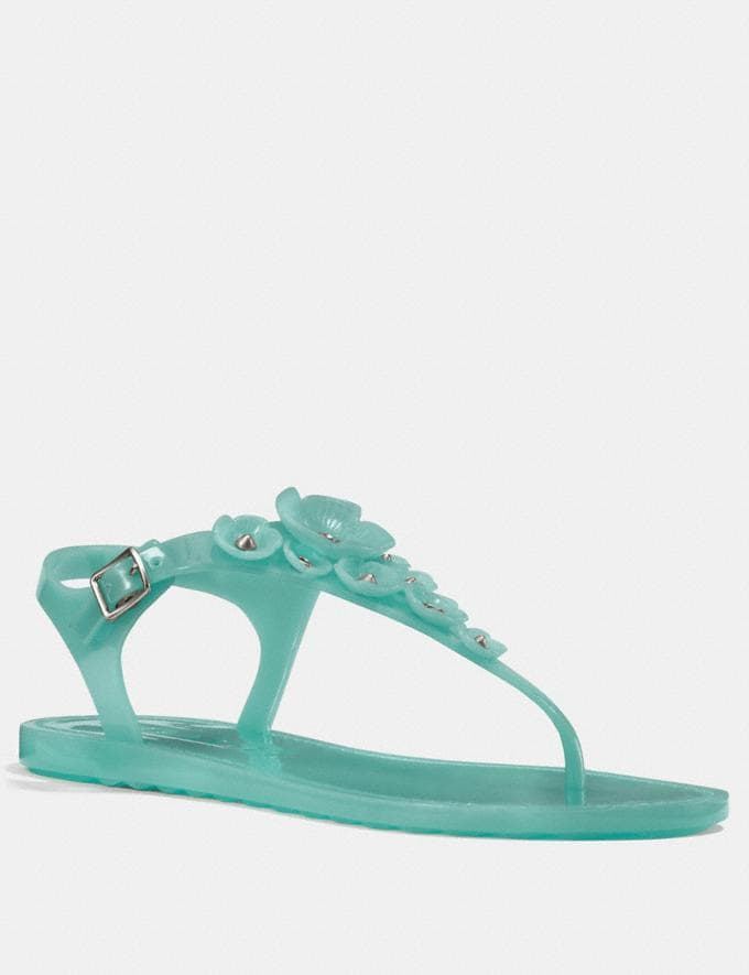 Coach Tea Rose Multi Jelly Sandal Marine