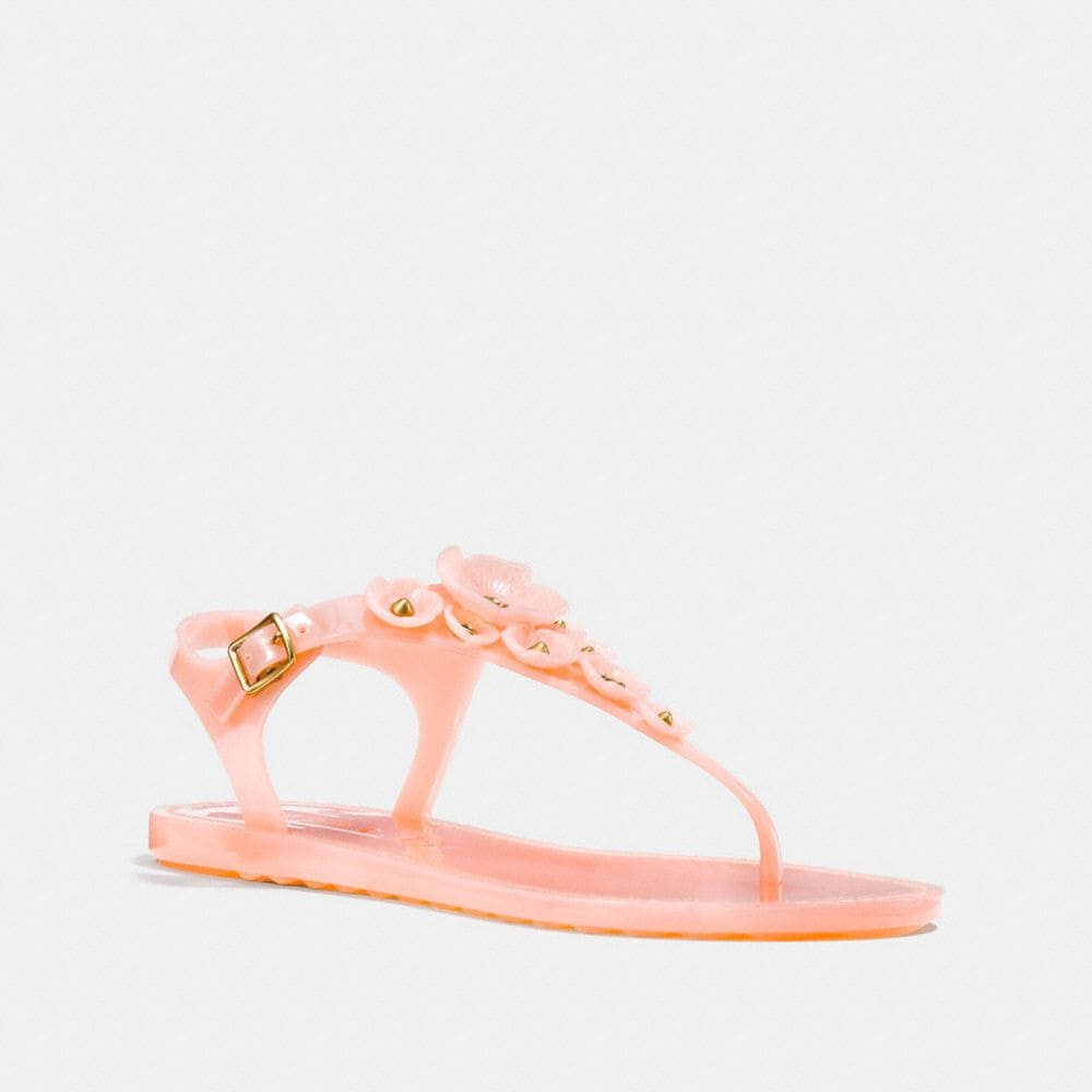 Coach Tea Rose Multi Jelly Sandal