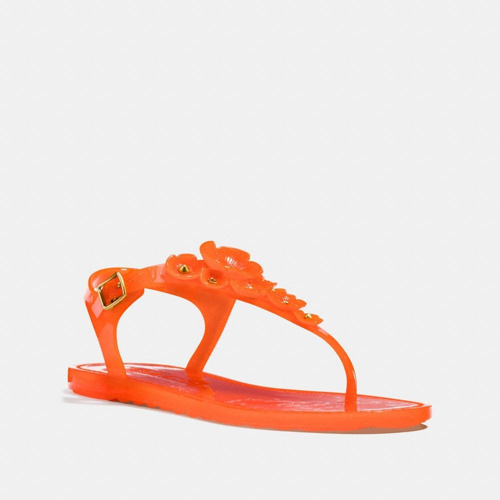 Coach Tea Rose Jelly Sandal