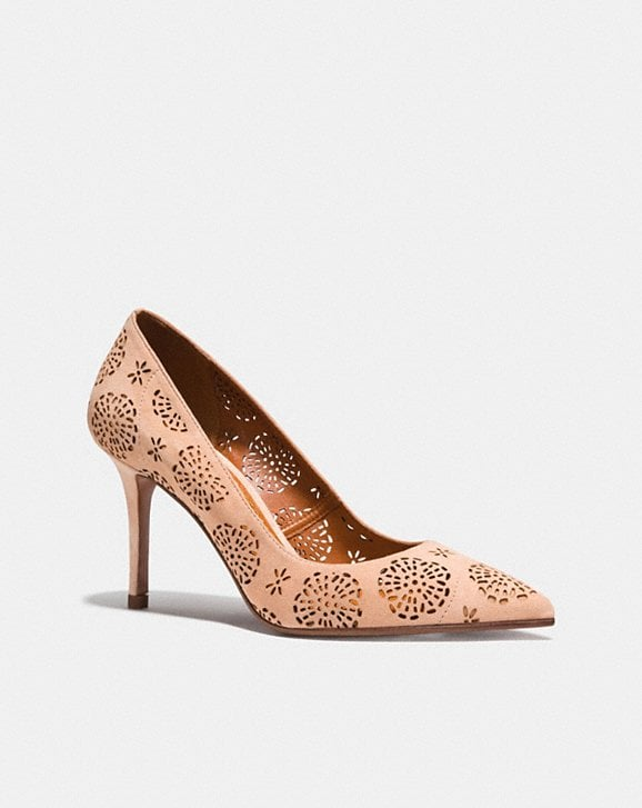 Coach WAVERLY PUMP WITH CUT OUT TEA ROSE