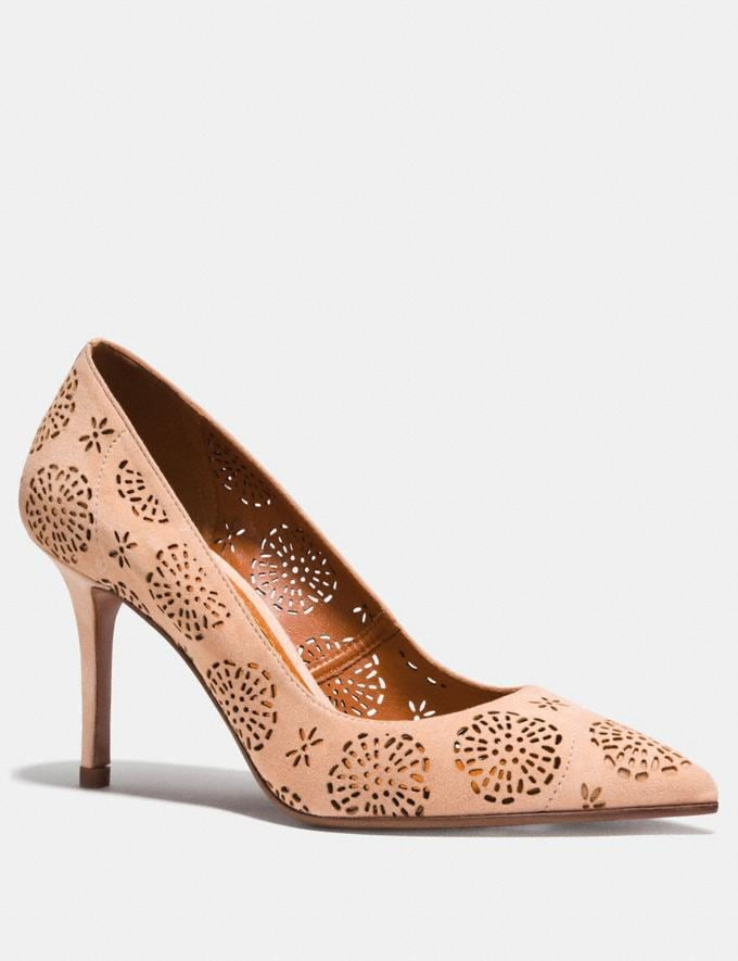 Coach Waverly Pump With Cut Out Tea Rose Beechwood