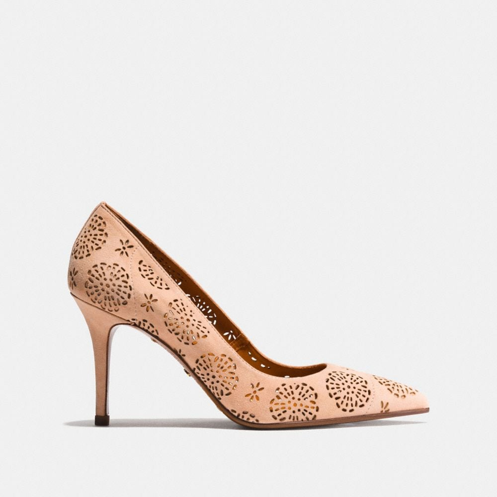 Coach Waverly Pump With Cut Out Tea Rose Alternate View 1