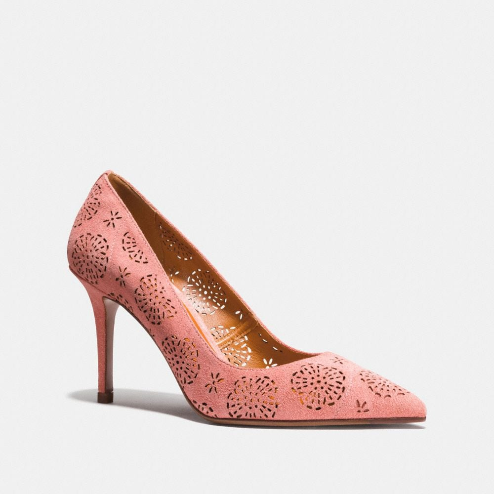 WAVERLY TEA ROSE PERFORATED PUMP