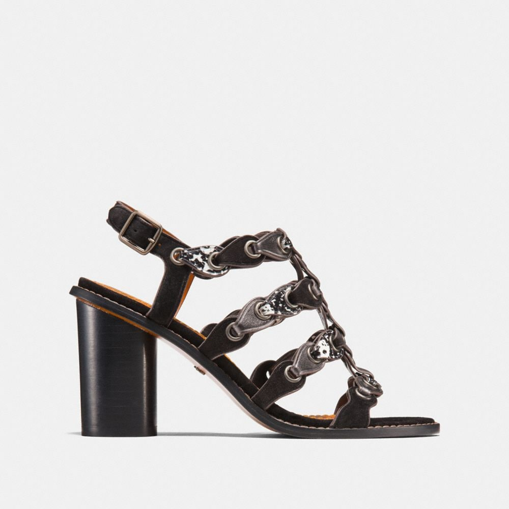 Coach Mid Heel Sandal With Coach Link Alternate View 1