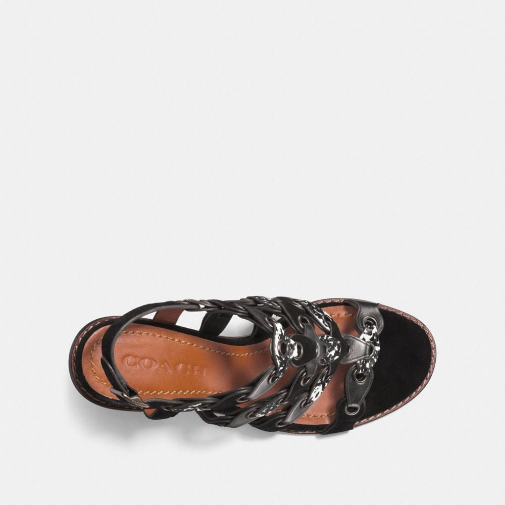 Coach Mid Heel Sandal With Coach Link Alternate View 2