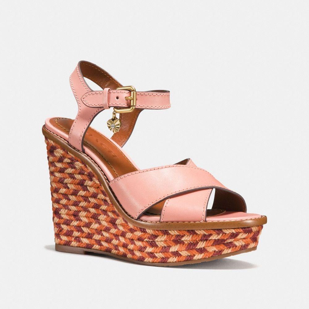 cross band high wedge sandal