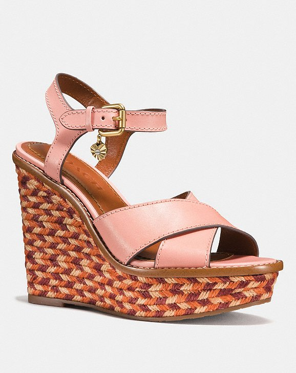 Coach 1941 Monogram Wedge Sandals Cheap Sale Wide Range Of Buy Cheap Footaction Outlet Low Price Fee Shipping Cheap Sale Browse ux56O