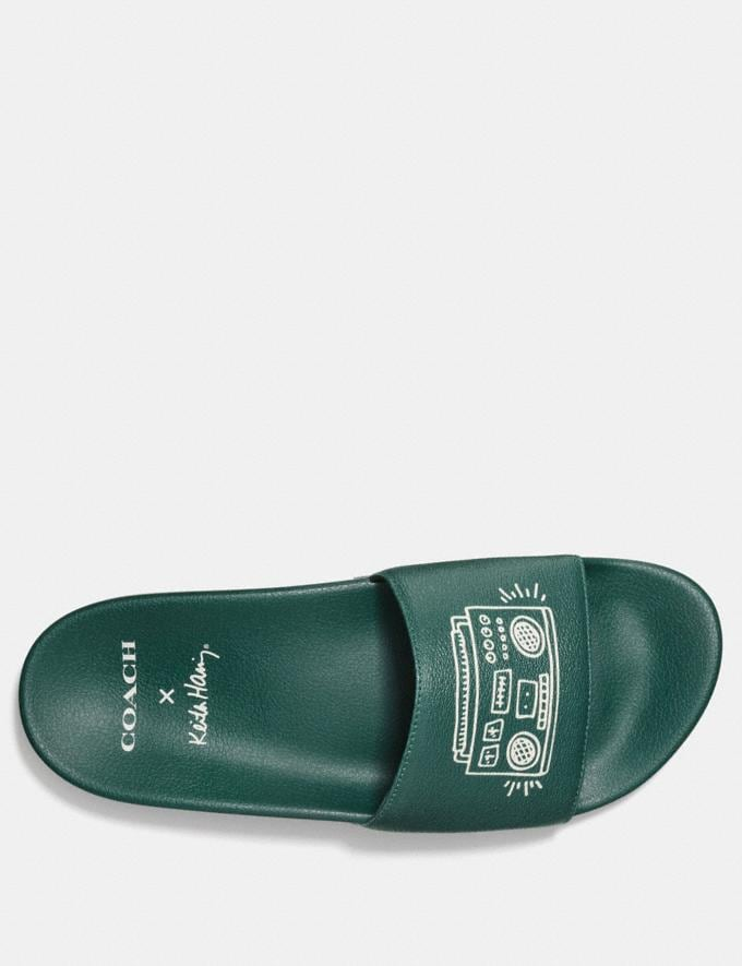 44035cad5515 Coach Coach X Keith Haring Slide Emerald Men Shoes Business Alternate View 2