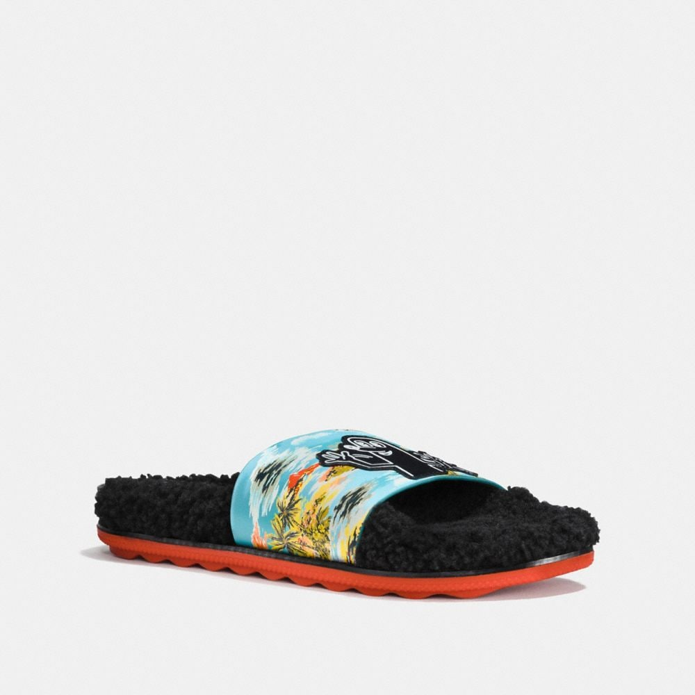 Coach Coach X Keith Haring Shearling Slide