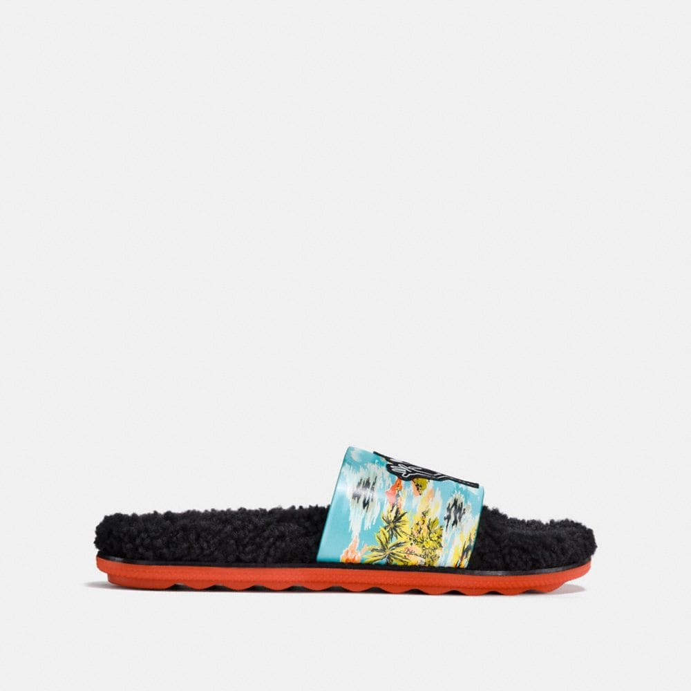 Coach Coach X Keith Haring Shearling Slide Alternate View 1