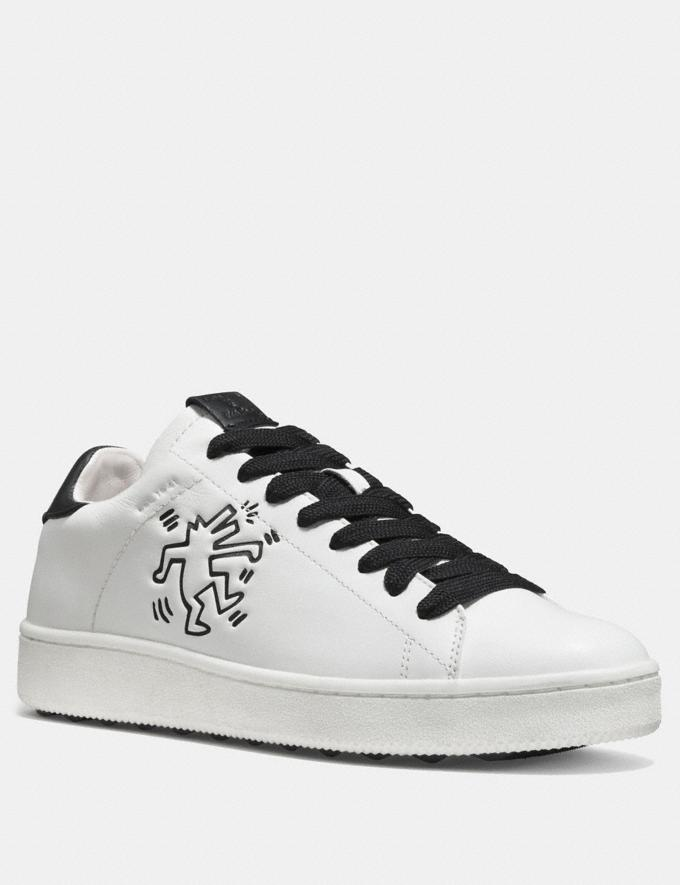 Coach Coach X Keith Haring C101 Low Top Sneaker White/Black CYBER MONDAY SALE Men's Sale Shoes