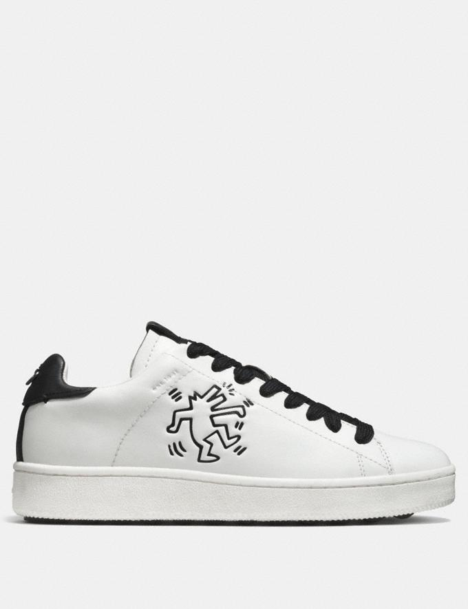 Coach Coach X Keith Haring C101 Low Top Sneaker White/Black CYBER MONDAY SALE Men's Sale Shoes Alternate View 1