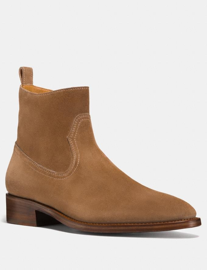 Coach Western Boot Camel Men Shoes Boots