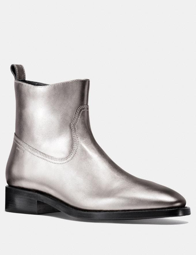 Coach Western Boot Silver Men Shoes Boots