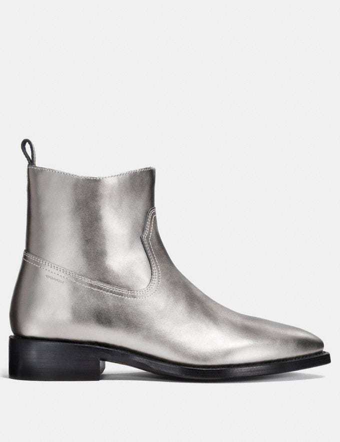 Coach Western Boot Silver Men Shoes Boots Alternate View 1