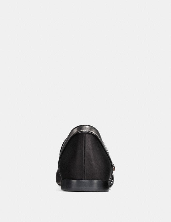 Coach Mary Jane Flat Black/Gunmetal SALE Women's Sale Shoes Alternate View 3