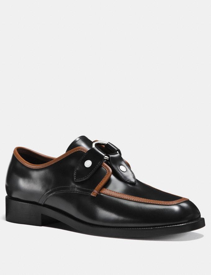 Coach Western Harness Derby Black/Cognac Men Shoes Casual