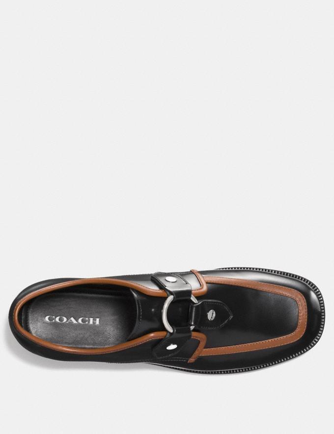 Coach Western Harness Derby Black/Cognac Men Shoes Casual Alternate View 2