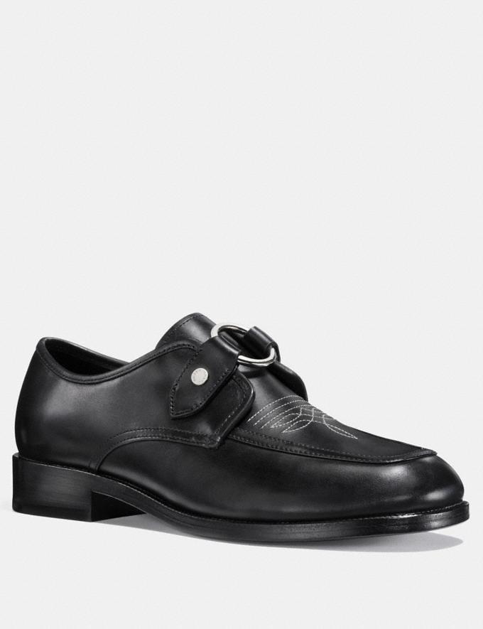 Coach Western Harness Derby Black Men Shoes Casual