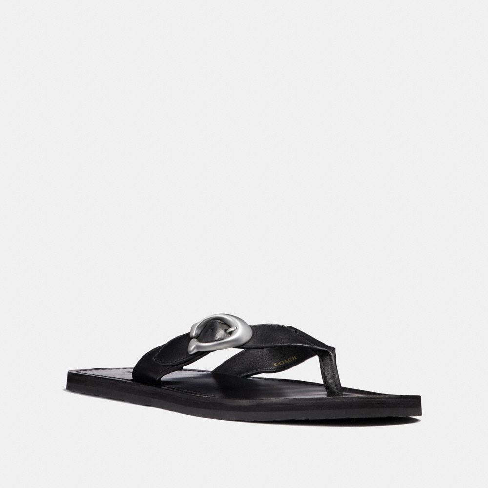 Coach Signature Buckle Flip Flop