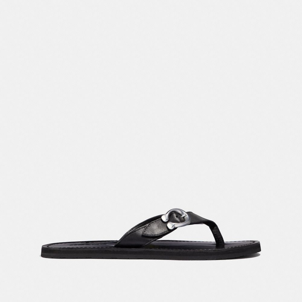 Coach Signature Buckle Flip Flop Alternate View 1