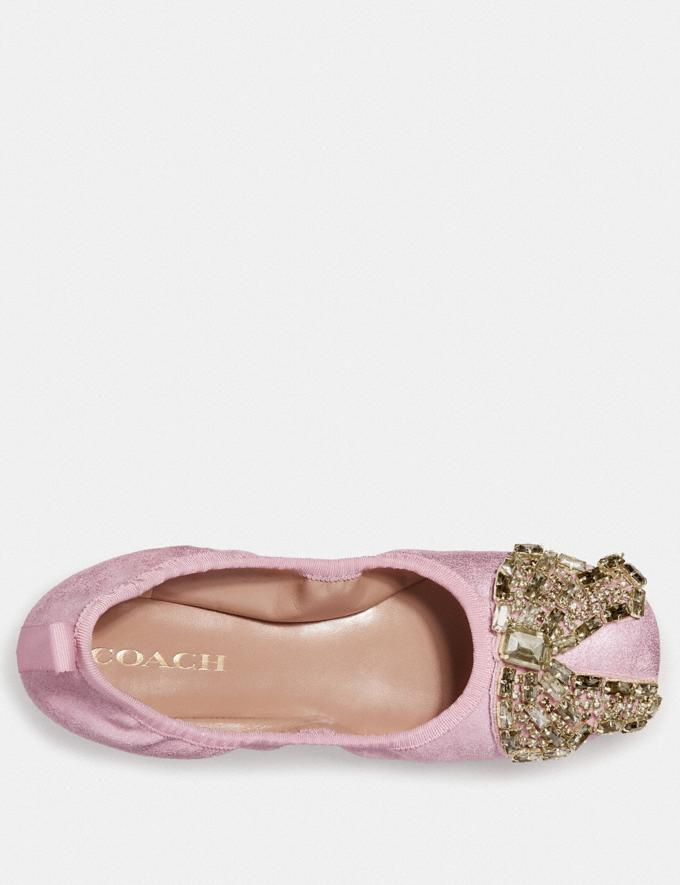Coach Margot Ballet With Crystal Bow Patch Metallic Rose  Alternate View 2