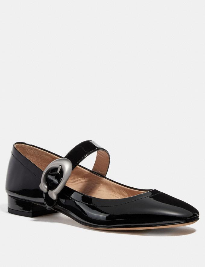 Coach Lexi Mary Jane Black Women Shoes Flats