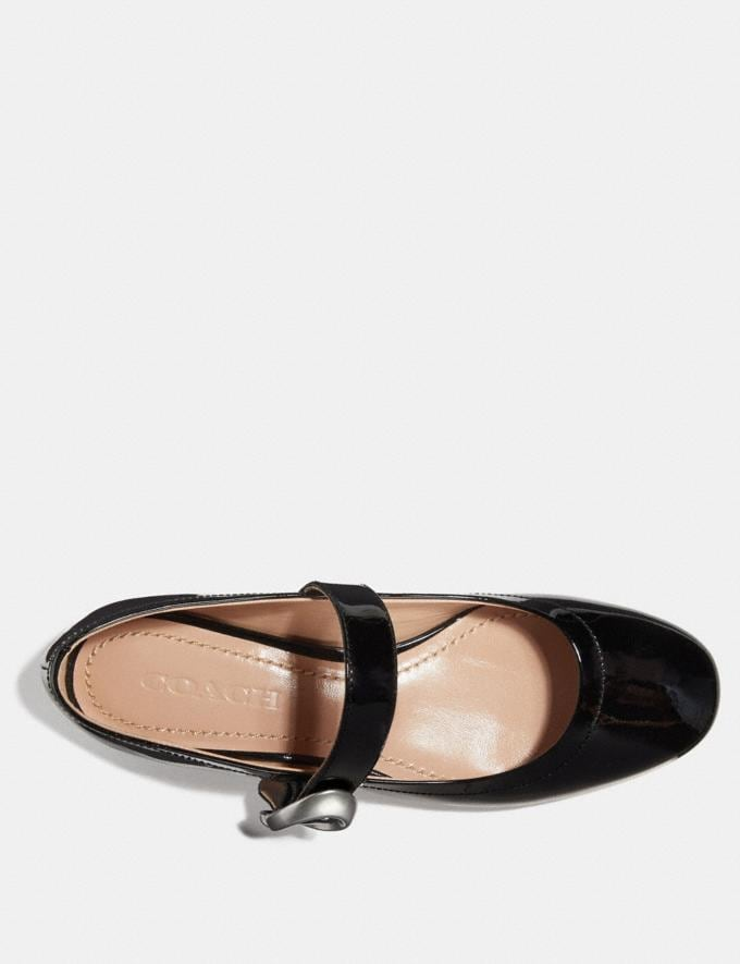 Coach Lexi Mary Jane Black Women Shoes Flats Alternate View 2