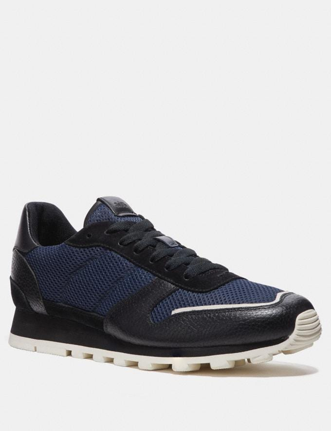 Coach C118 Runner Midnight/Black Men Shoes Trainers