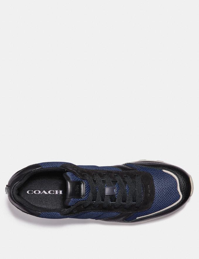 Coach C118 Runner Midnight/Black Men Shoes Trainers Alternate View 2