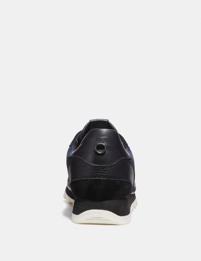 Coach C118 Runner Midnight/Black Men Shoes Trainers Alternate View 3