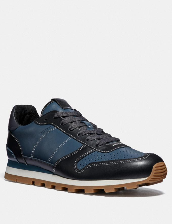 Coach C118 Runner Denim/Black Men Shoes Sneakers