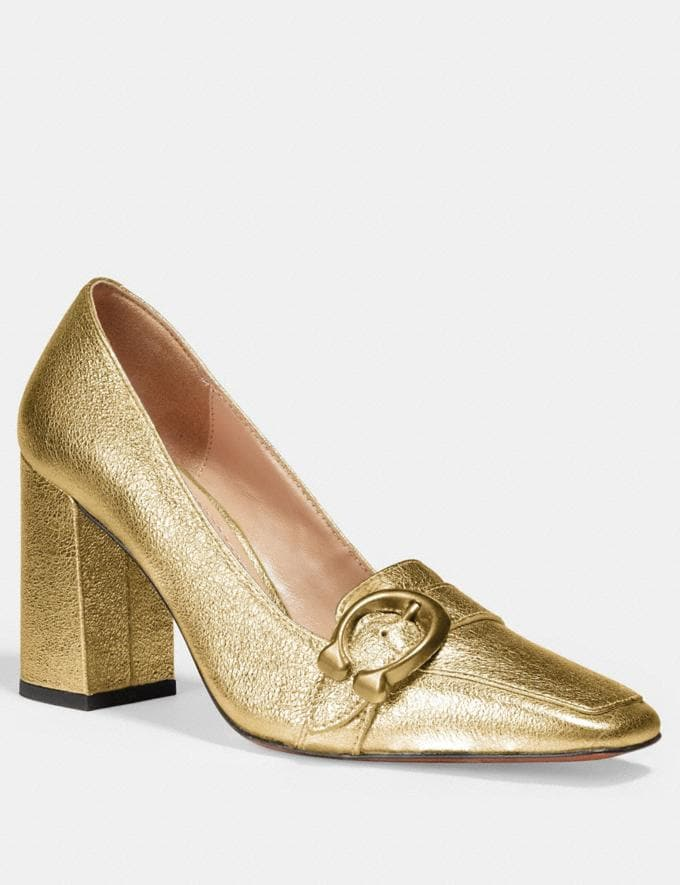 Coach Jade Loafer Gold SALE For Her Shoes