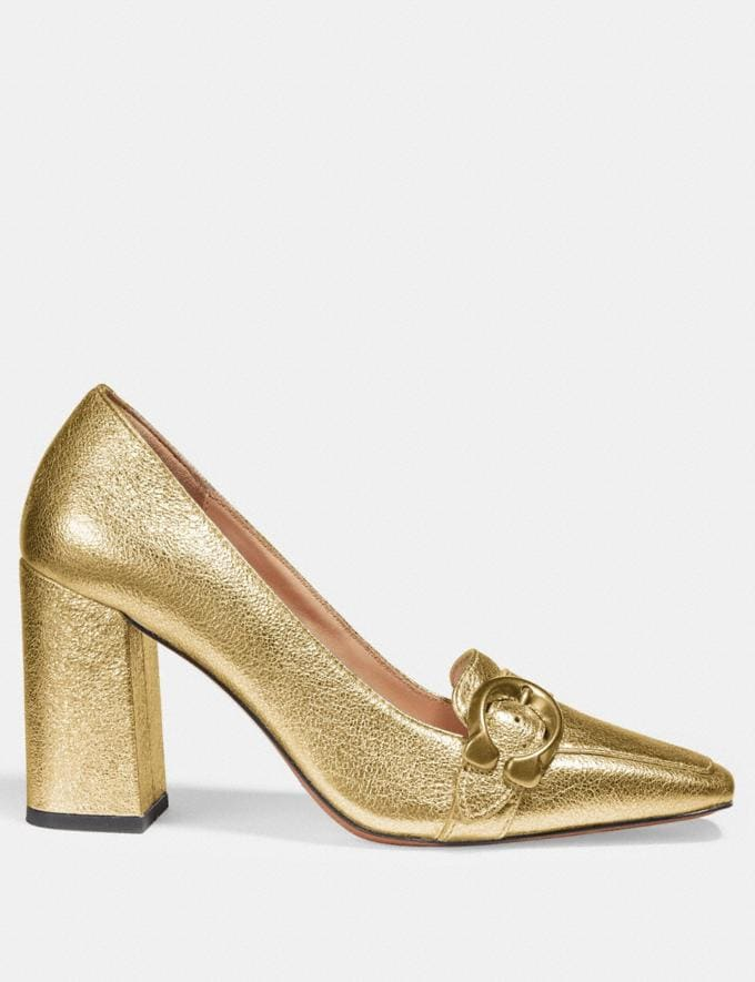 Coach Jade Loafer Gold SALE For Her Shoes Alternate View 1