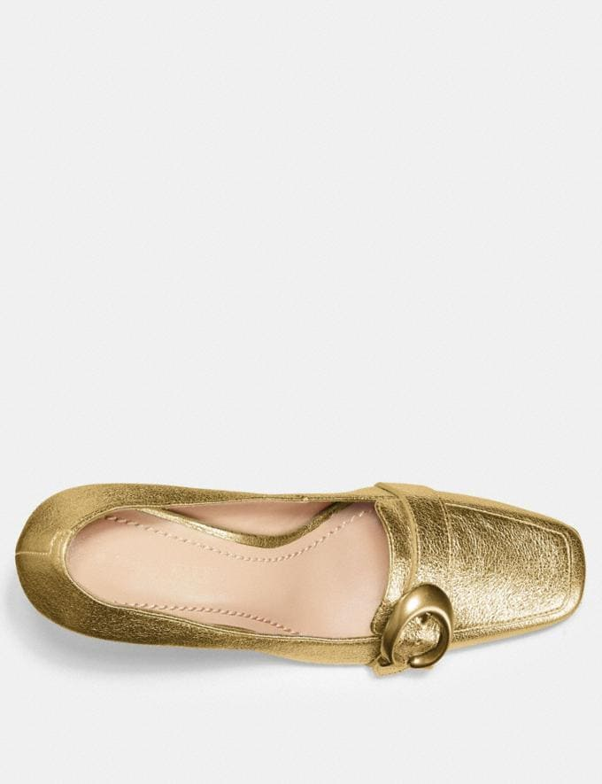 Coach Jade Loafer Gold SALE For Her Shoes Alternate View 2