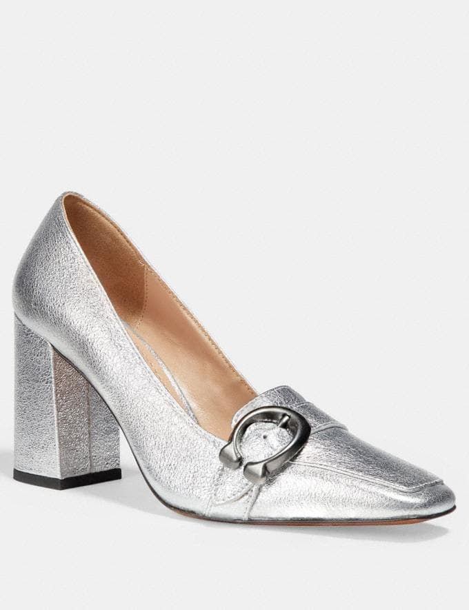 Coach Jade Loafer Silver