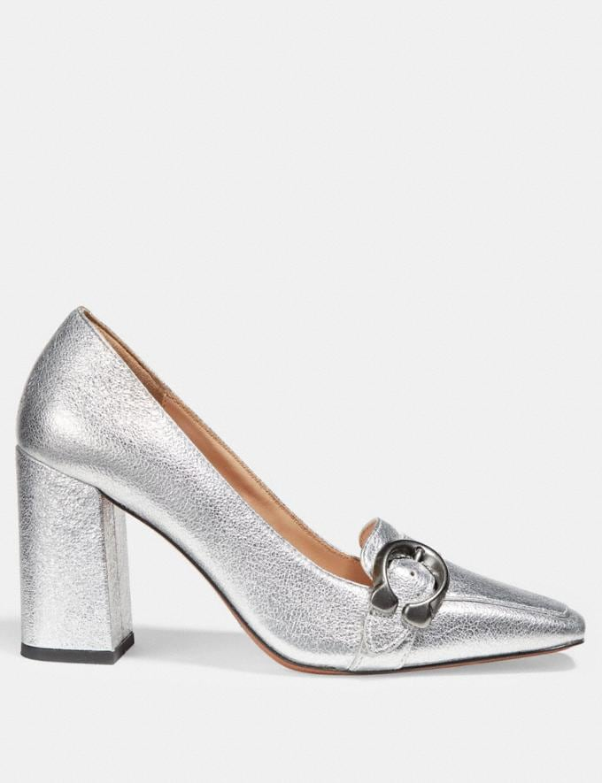 Coach Jade Loafer Silver  Alternate View 1
