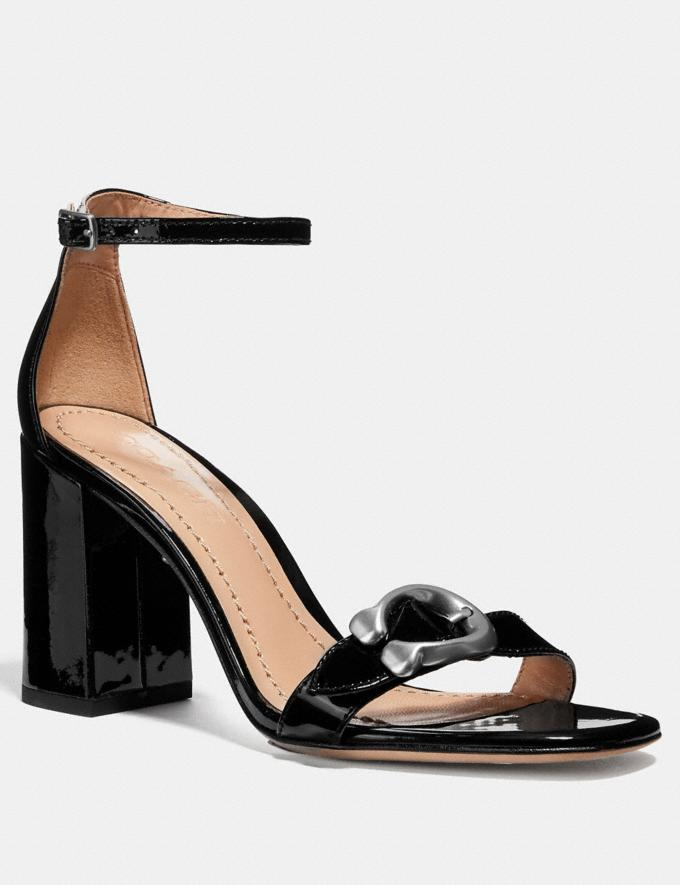 Coach Maya Sandal Black CYBER MONDAY SALE Women's Sale 40 Percent Off
