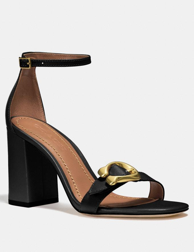 Coach Maya Sandal Black SALE Women's Sale Shoes