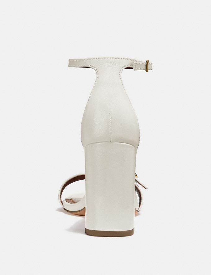 Coach Maya Sandal Chalk SALE Women's Sale Shoes Alternate View 3