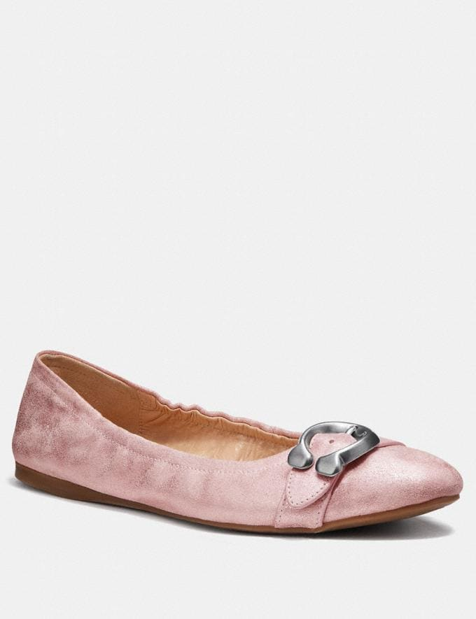 Coach Stanton Ballet Metallic Rose Women Shoes Flats