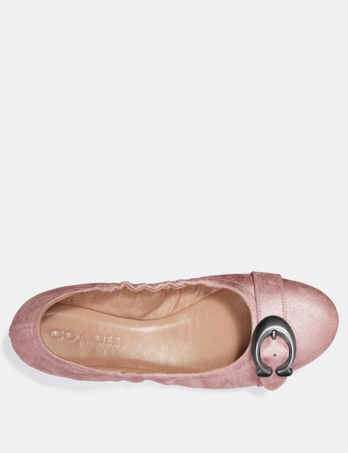 Coach Stanton Ballet Metallic Rose Women Shoes Flats Alternate View 2
